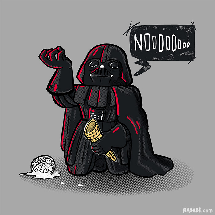 tshirt drama lord vader nooooo ice cream death star