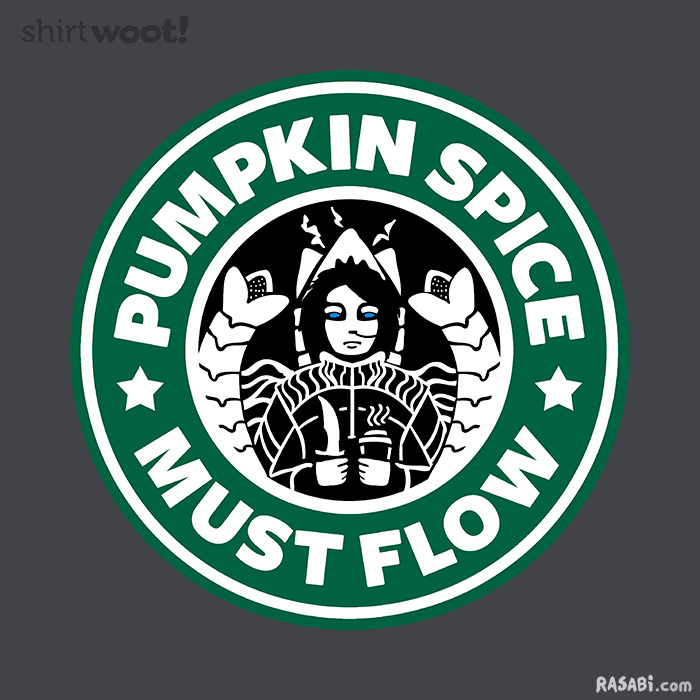 t-shirt pumpkin spice must flow dune