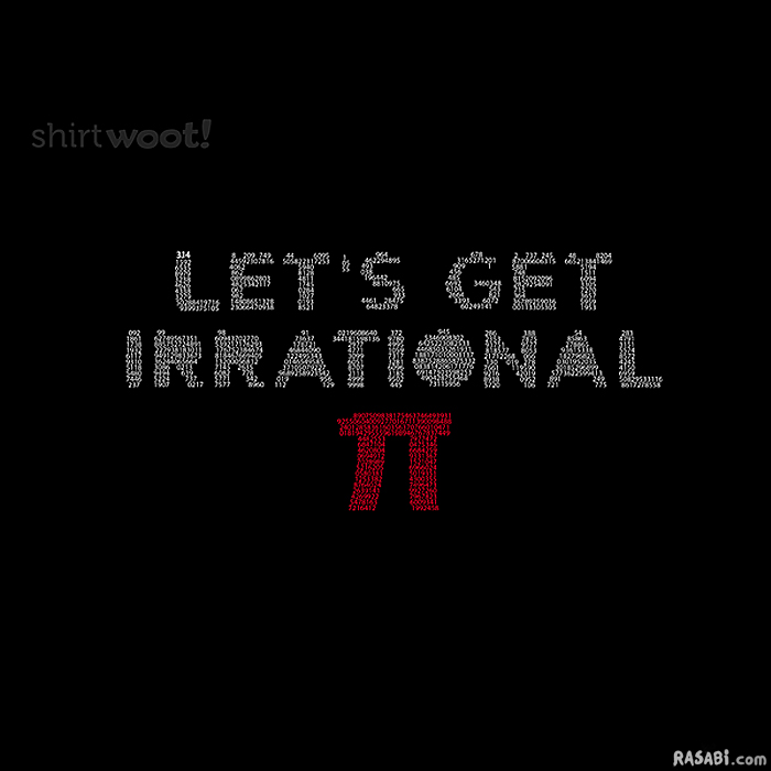t-shirt let's get irrational pi numbers