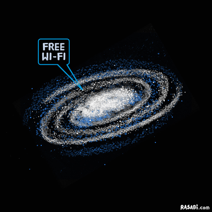 tshirt defining feature wi-fi galaxy funny