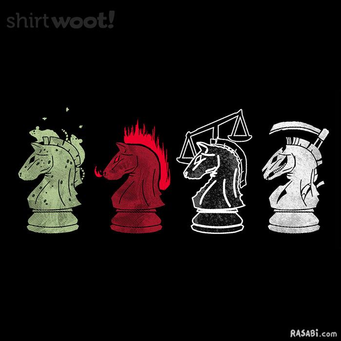 t-shirt four horsemen chess