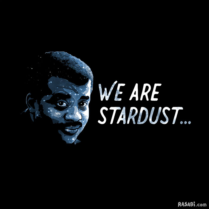 t-shirt neil degrasse tyson stardust quote science