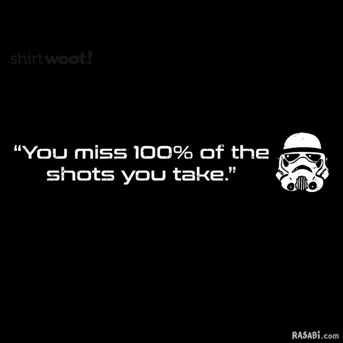 t-shirt stormtrooper quote star wars