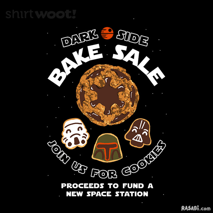 t-shirt star wars dark side cookies